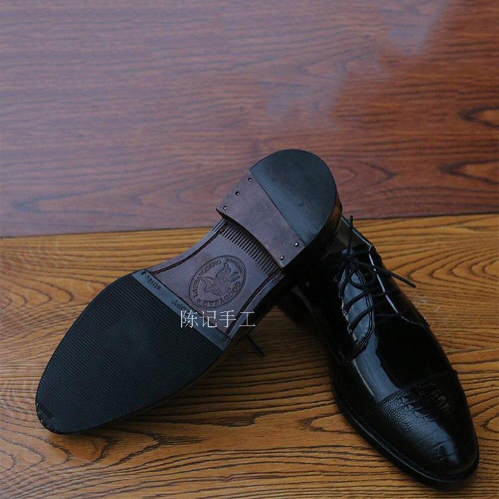 Oxfords Spitz Kirche Herren Schuhe Sipriks Schwarz Rahmengenäht Schwarzes Shiny Leder Große Größe Importiert Patent Kleid Goodyear 8wP7q1