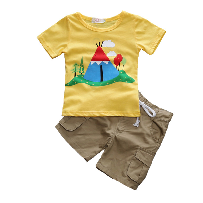 Fashion Summer Kids Boys Clothing Sets 100% Cotton Short Sleeve O-Neck T-Shirt And Short Pants 2017 Children Boy Clothes Suits 3 8t moana maui boys sets 2017 summer kids t shirt pants sport suits 2pc short sleeve children boys clothings sets suits cs206