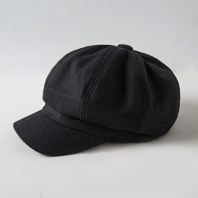 Fibonacci Retro Beret Hat Nylon Solid Color Newsboy Octagonal Cap Berets