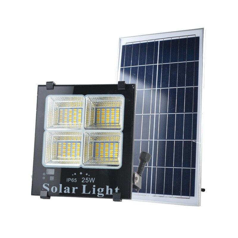 6pcs 25w 40w 60w 120w 200w LED Solar Powered Flood Lights Outdoor Garden Lawn Landscape Lamps Waterproof Security Wall Lamps