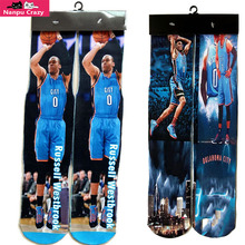 Zero 0 Oklahoma Russell Westbrook 3D Printed Socks for Men Terry Compression Socks Skateboard Odd Future Basketball Sox