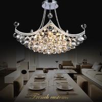 brief modern Crystal Pendant Lights creative European living room LED lights bedroom restaurant corridor lamps LU628 ZL455
