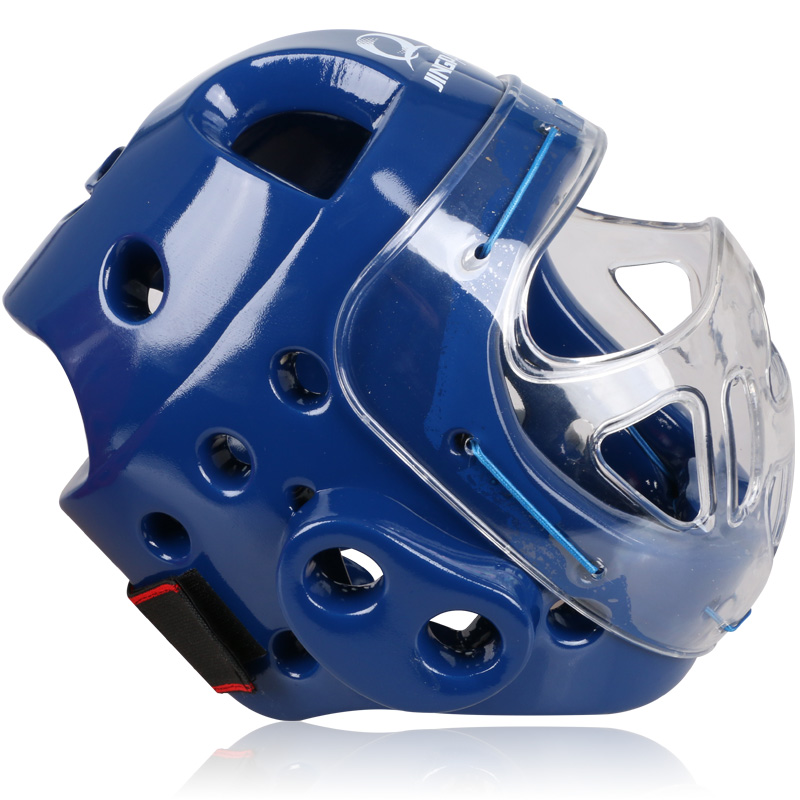 Adult Sparring Head Gear Helmet Protective Face Mask Karate Martial Arts