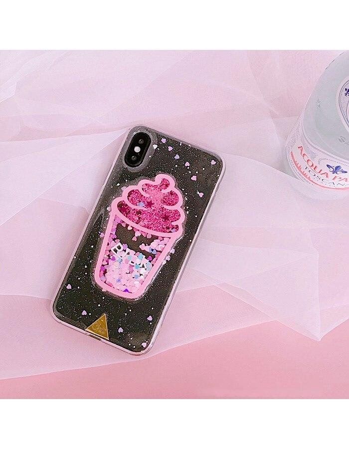 Cover iPhone 6/6//7 unicorni liquida