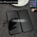 7 мини Корпус Для Iphone 5S Назад Корпус 7 стиль Черное золото серебристый Корпус для Iphone 7 мини-Джет Черный матовый корпус Бесплатный ТПУ