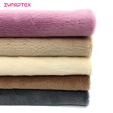 ZYFMPTEX 100% Polyester 5mm Long Pile Plush Toy Fabric New Listing 5 Pieces/Lot Handmade Diy Patchwork Dyeing Plush Fabric Cloth