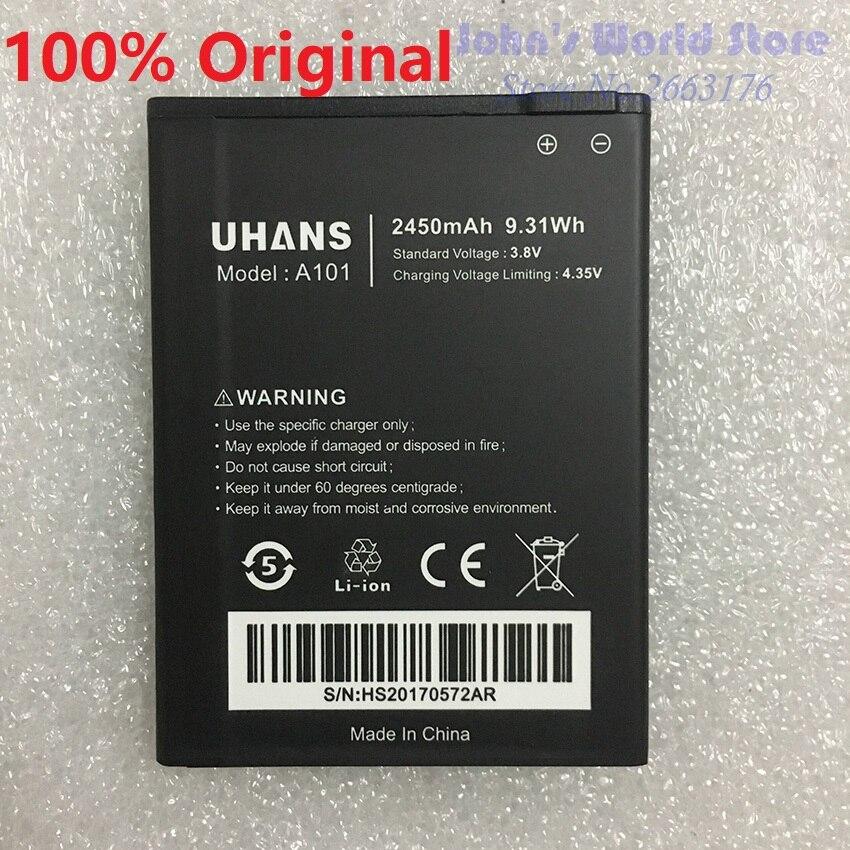 100% Оригинальные Nouveau Pour uhans A101 A101S <font><b>2450</b></font> мАч uhans мобильный tlphone аккумулятор смартфона <font><b>batterie</b></font> де remplacement