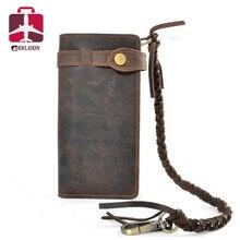 Crazy horse кошелек 2016 натуральная кожа мужчины кошельки известный бренд кошелек дизайнер сцепления визитница длинные роскошные бумажник