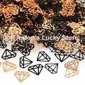 Negro metal foil calcomanías De uñas consejos de arte decoración de uñas herramientas de belleza de uñas lentejuelas diseño de diamantes