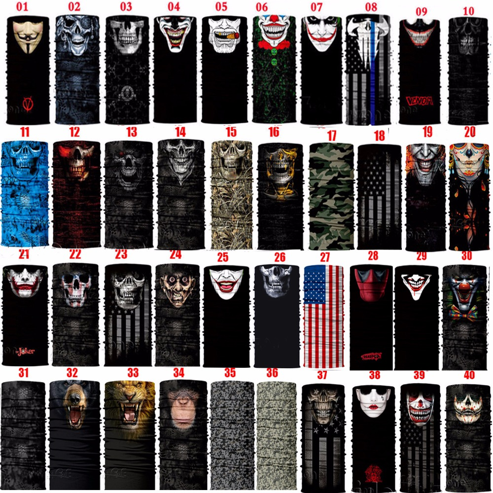 Sun Mask Skull Face Shield Balaclava Gaiter Neckerchief Outdoor Hunting Sale-Seller Male 2017 qiuzhang sw2107 outdoor war game military protective skeleton half face shield mask tan