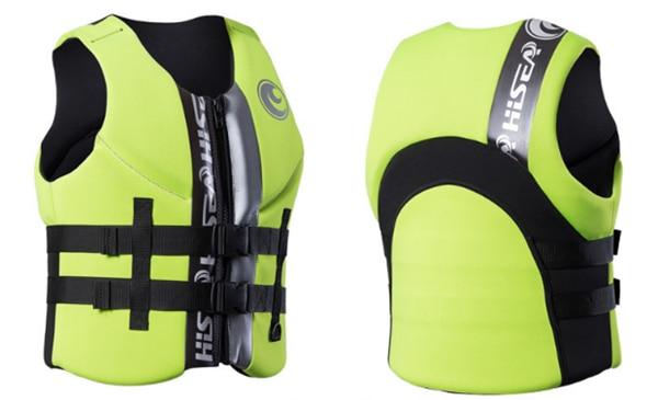 Hisea adult life vest buoyancy thickening drift vest marine snorkeling swimming suit Surfing scuba children lifejacket 4colors04