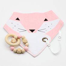 Baby Food Grade Materials Silicone/Wooden Beads BPA Free Baby Bib Drool DIY Crafts Nursing Bracelet Set Baby Teether