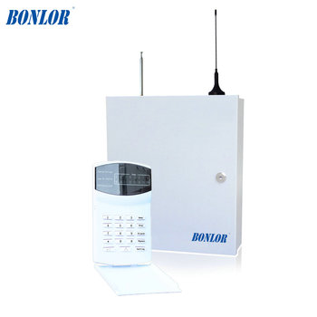(1 set) Home security self-defense PSTN GSM SMS Alarm system 433MHz 16 wire and wireless zones LED keypad burglar alarm