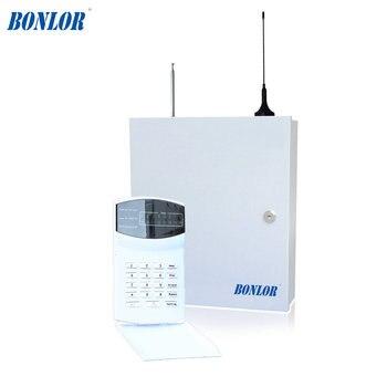 (1 set) Home security self-defense PSTN GSM SMS Alarm system 433MHz 16 wire and wireless zones LED keypad burglar alarm