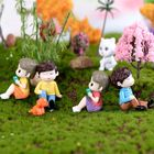 2Pcs Sweet Lover Couple Wedding Home Garden Decoration Ornaments Mini Bonsai Micro Landscape DIY Craft