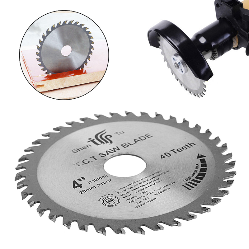 2017 Circular Sawing Blade Wood Cutting Round Discs Sawing Cutter Tools 4 inch 40T