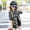 Children Jacket for Girls Camouflage Trench Coats Winter Tops Kid Outerwear Windbreaker Clothing Sports Vestidos Infant DustCoat