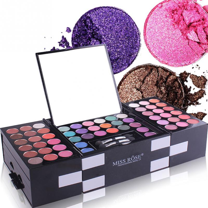 New Makeup Set Tools MISS ROSE 142 color Eyeshadow Palette 3 color Blusher 3 color Brow
