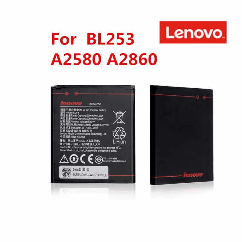 100% Asli Lenovo BL253 Baterai Lenovo A2010 Bateria 2010/BL 253 BL-253 A1000 A1000m 1000 BL253 Baterai