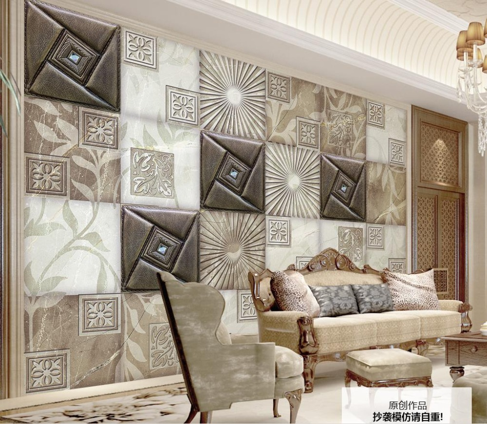 Wallpapers In Home Interiors: Modern Fashion 3D Stereoscopic Wallpaper Soft Marble