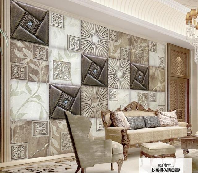 Modern Fashion 3D Stereoscopic Wallpaper Soft Marble