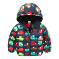 2016 Winter Children'S Clothing Fashion New Baby Boyscotton-Padded Jacket Warm Thickening Outerwear Baby Wadded Jacket