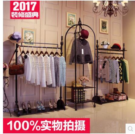 designer fashion 9eb52 08993 US $645.3 10% di SCONTO|I vestiti cremagliera di un ferro arte negozio di  abbigliamento mostra il vintage vestiti scaffale della piattaforma insulare  ...