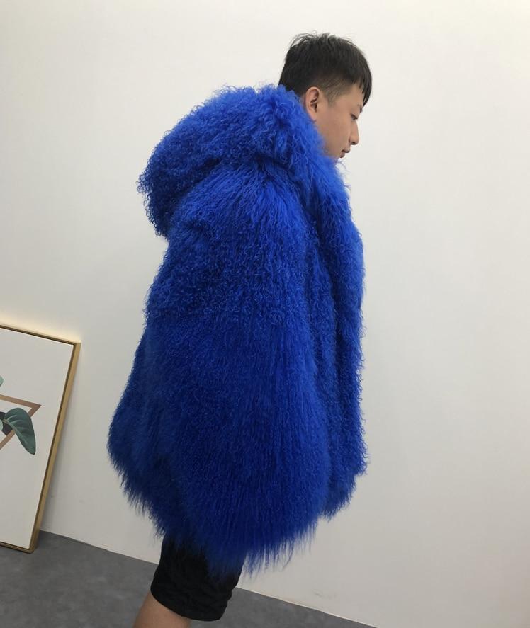 HTB1SGLaXND1gK0jSZFKq6AJrVXaW 2019 Men's real mongolian sheep fur coat hooded warm winter outerwear lapel beach wool fur overcoat long sleeve Jacket