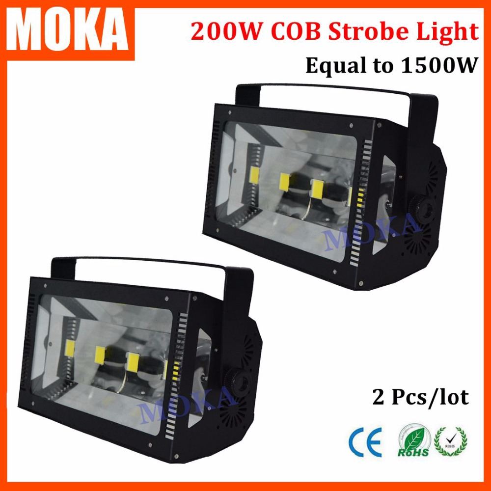 2 Pcs/lot 200W Led Strobe Stage Light White Color Mini Led Strobe Light disco strobe flash Professional DJ Stage Effect Light2 Pcs/lot 200W Led Strobe Stage Light White Color Mini Led Strobe Light disco strobe flash Professional DJ Stage Effect Light