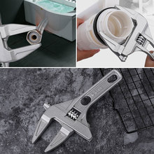 цена на Large Opening Wrench Spanner Hardware Tools Adjustable Wrench Alloy Shorts Universal Short Shank Wrench Multifunction Monkey