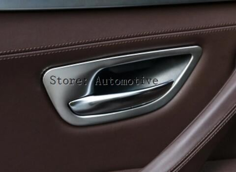 Stainless Inner Door Handle Bowl Cover Trim For BMW 5 Series F10 2011 2014 4pcs|door handle bowl covers|trim coverhandle trim - title=