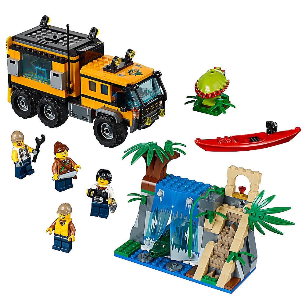 Lepin 460pcs Building Blocks Compatible Legoe City Jungle Explorers 60160 toys for Childrens Gift Bricks Model Jungle Mobile LAB