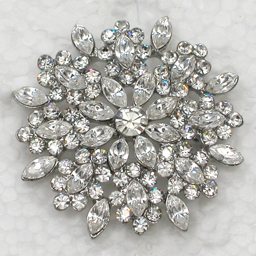 12pcs lot Wholesale Brooch Rhinestone Marquise Flower Fashion Pin brooches Wedding party prom Jewelry gift C101718