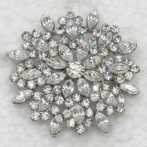 Takı ve Aksesuarları'ten Broşlar'de 12 adet/grup toptan broş Rhinestone Markiz Çiçek Moda Pin broş Düğün parti balo Takı hediye C101718'da  Grup 1