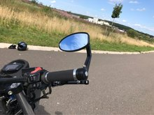 NEW Universal Motorcycle Moto Scooter Racer Rearview Side View HANDLE BAR END Mirror FOR KTM DUCATI Monster795 EVO Monster 696