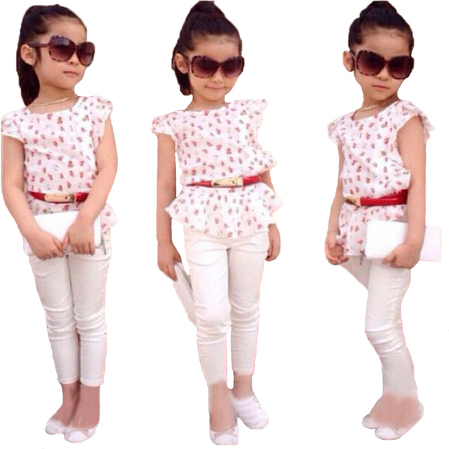 074a652d4c6bb US $8.1 40% OFF ST138 2018 hot sale summer fashion girls clothing set girls  T shirt + pants children clothing set kids set retail-in Clothing Sets ...
