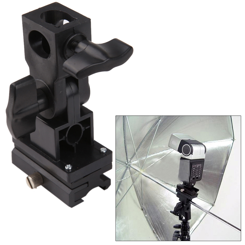 Flash stand Flash Light Photography Swivel Bracket Shoe Stand Mount Umbrella Holder Type B for Sony new swivel flash hot shoe umbrella holder mount adapter for studio light stand bracket type e