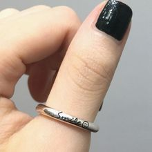 Silvology 925 Sterling Silver Smile Expression Rings High Quality Industry Style Korea for Women Festival Jewelry