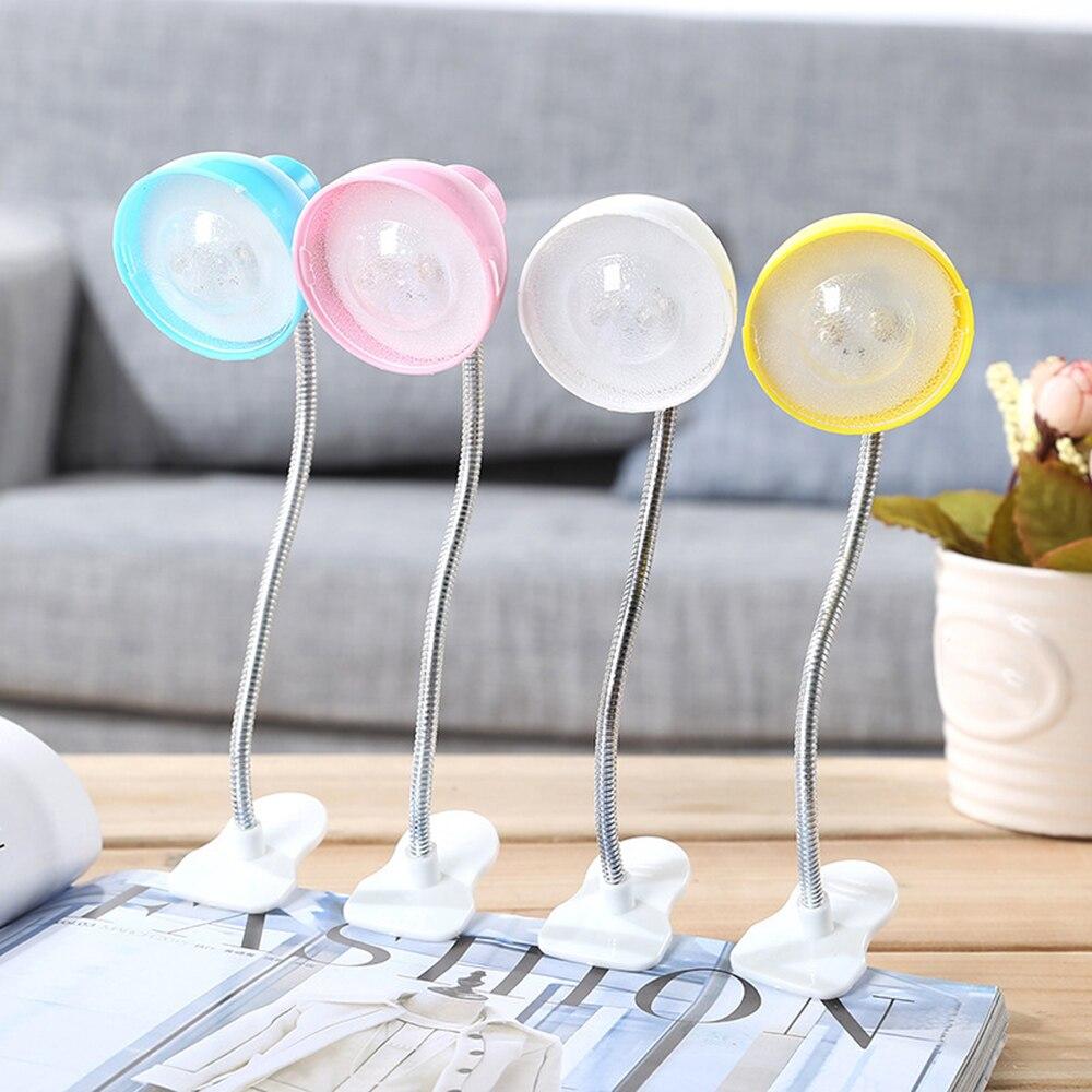 Mini LED Flexible Clip Book Lamp Night Light Bedside Lamp Eye Protection Energy Saving Reading Lamp Kids Gift Light 1W