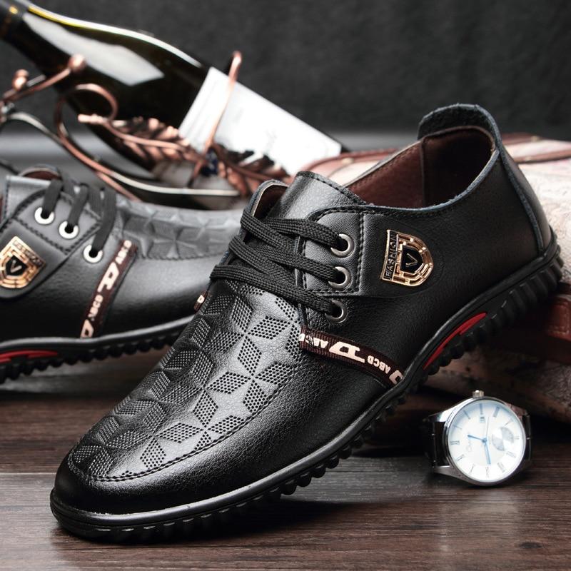 Respirant Véritable Casual En Chaude Cuir Conduite Hommes Mode Vente Printemps Chaussures 2018 Confort Noir Up Loisirs Pour brown Dentelle Super bleu 8nPqSdw