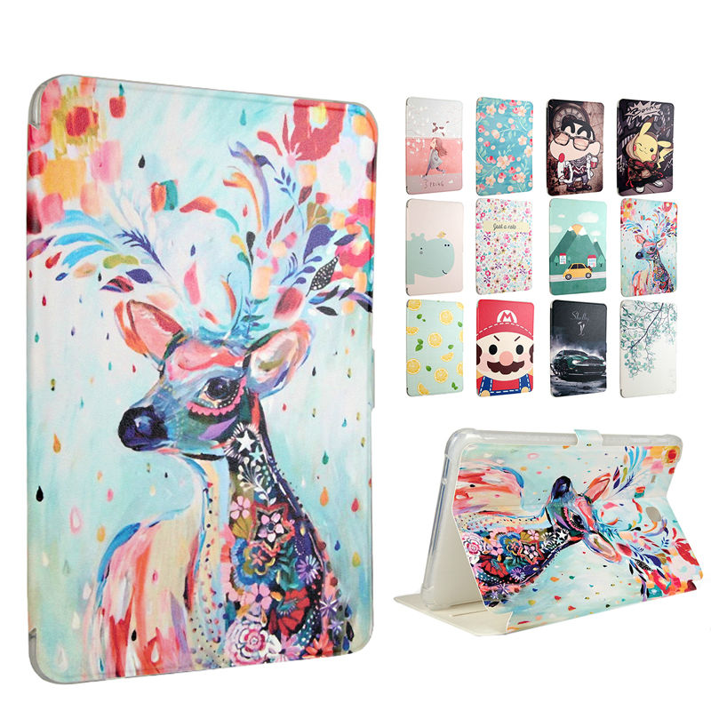 Tab E T560 Tablet PC Case PU Leather Cover SM-T560 9.6 Inch Shockproof 3D Print Fundas For Samsung Galaxy Tab E T560 Smart Cases case for samsung galaxy tab 2 10 1 p5100 pu leather case cover for samsung galaxy tab 2 p5110 p5113 tablet cases fundas capa