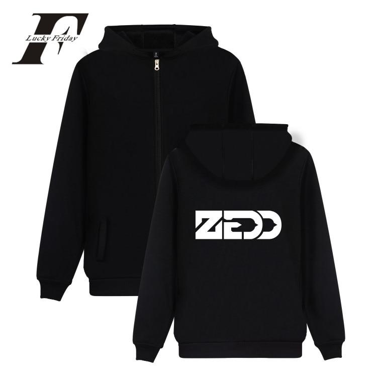LUCKYFRIDAYF 2017 DJ Zedd Electronic Music Autumn Zipper Hoodies Men Coat Men/Women Cap Casual Print Hip Hop Hoodie Sweatshirts