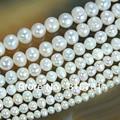 Лидер продаж естественный пресноводный белый жемчуг круглый бисер 15