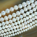 "Hot Sale Natural Freshwater White Pearl Round Beads 15"" 4mm 6mm 8mm 9mm 10mm 11mm Free Shipping -F00070"