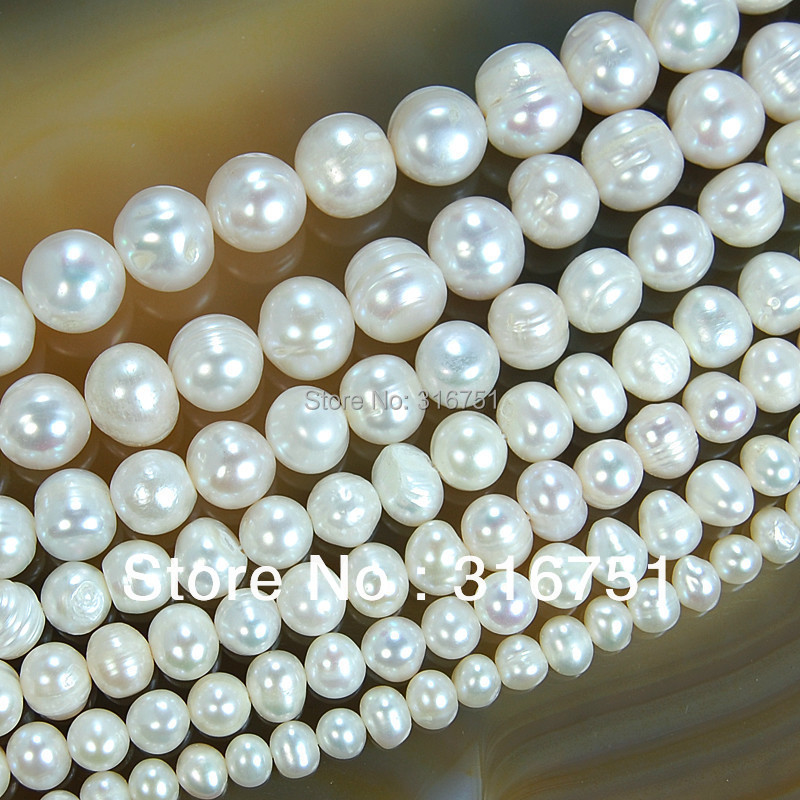 """Hot Sale Natural Freshwater White Pearl Round Beads 15"""" 4mm 6mm 8mm 9mm 10mm 11mm for Jewelry Making Diy Bracelet Free Shipping"""