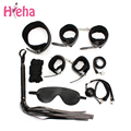 HiEHA 10PCS Leather bdsm bondage Set Restraints Adult Games Sex Toys for Couples Woman Slave Game SM Sexy Erotic Toy Handcuff