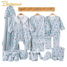 цена на Cartoon Newborn Clothes Baby Gift Set Cotton New Born Baby Girl Boy Clothes Infant Clothing Baby Outfit Newborn Set No Box