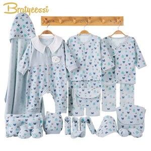 Image 1 - Cartoon noworodka ubrania zestaw prezentowy dla dziecka bawełna noworodki dziewczynka chłopiec ubrania dla niemowląt odzież ubranko dla dziecka noworodka zestaw bez pudełka