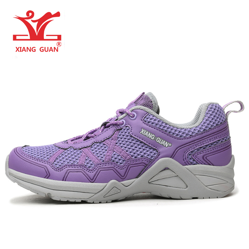 XIANGGUAN Vrouw Loopschoenen Lichtgewicht Anti Skid Jogging Sneakers Vrouwen Sport Run Ademend Paars Blauw zapatillas chaussure
