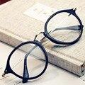 New fashion glasses women optical frames eyeglasses armacao de oculos de grau feminino Retro patterns metal legs eyewear